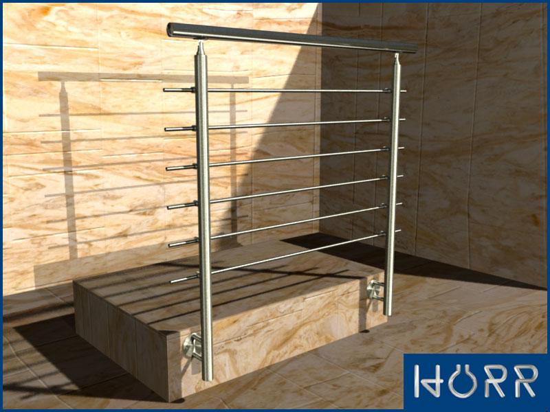 edelstahl balkongel nder br stungsgel nder br stung v2a wange gel nder set 4 5m ebay. Black Bedroom Furniture Sets. Home Design Ideas