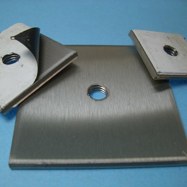 Deckel kappe blech f r vierkantrohr 25x25 bis 60x60 z for Fenster 60x60