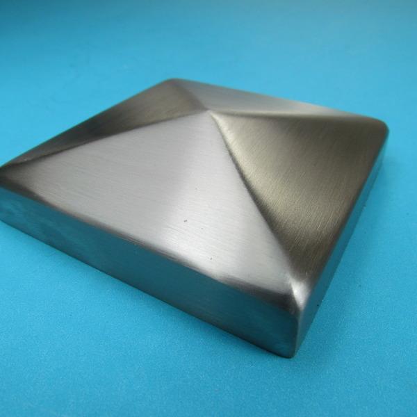 edelstahl pyramiden kappe abdeckung vierkant zaun pfosten kappe deckel pyramide ebay. Black Bedroom Furniture Sets. Home Design Ideas