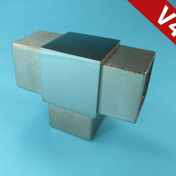 Steckfitting t st ck f r vierkantrohr 20x20 25x25 30x30 for Fenster 30x30