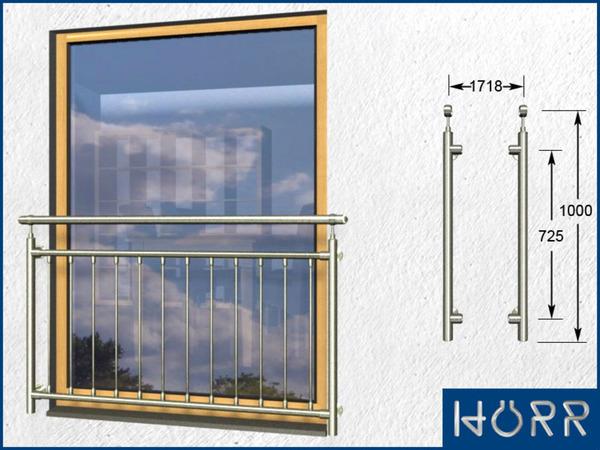 franz sicher edelstahl balkon senkrechte rohre. Black Bedroom Furniture Sets. Home Design Ideas
