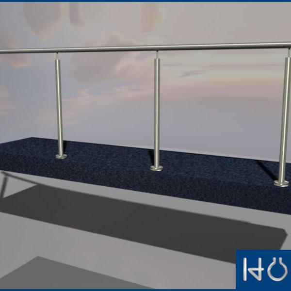 edelstahl v2a treppengelaender balkongelaender handlauf gelaender treppe bausatz va. Black Bedroom Furniture Sets. Home Design Ideas