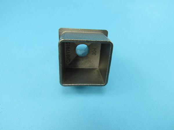 Rohrstütze Nr2 Unterteil für Vierkantrohr 40x40 x2 Edelstahl