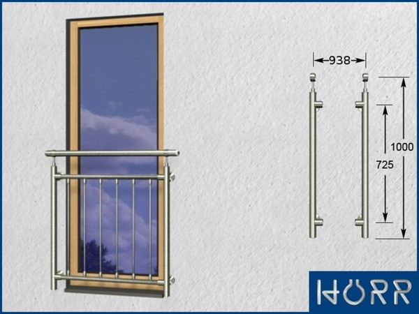 Französicher Balkon französicher edelstahl balkon senkrechte rohre kletterschutz v2a fenster gitter ebay