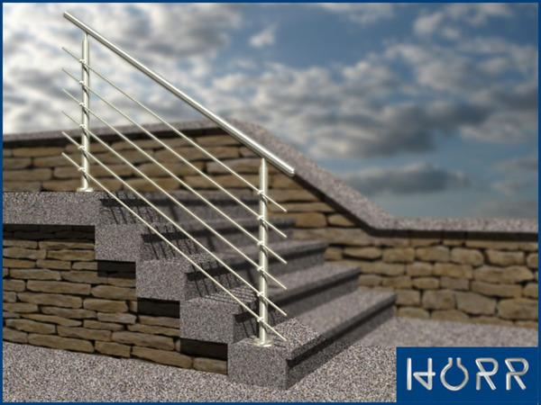 gel nder edelstahl treppengel nder treppe 150 cm au en 1 5 meter eingang balkon ebay. Black Bedroom Furniture Sets. Home Design Ideas