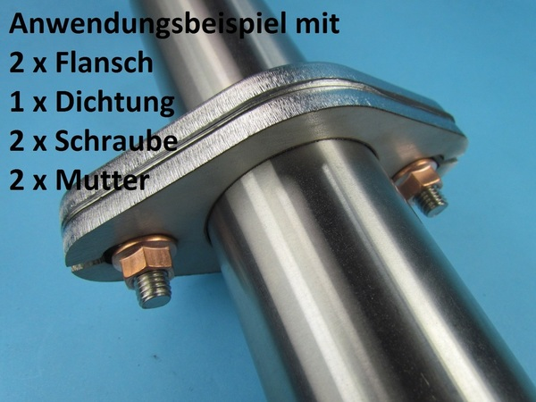 Auspuffschrauben Set M8x30 St/ückzahl 4 Schrauben Set f/ür Auspuff Flanschverbindungen